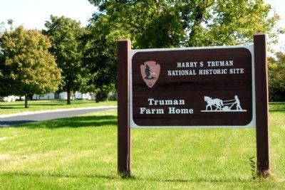 Entrance Sign to Truman Farm Home image. Click for full size.