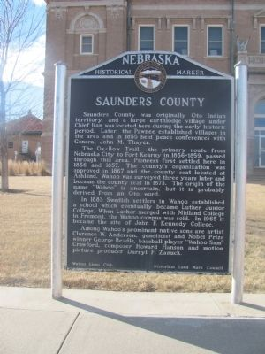 Saunders County Marker image. Click for full size.