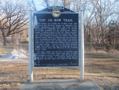 The Ox-Bow Trail Marker image. Click for full size.
