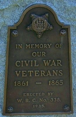 Fort Recovery Civil War Veterans Memorial image. Click for full size.