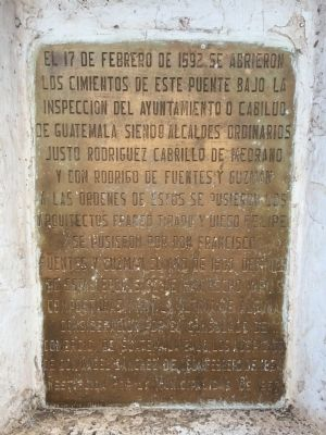Los Esclavos Bridge Marker image. Click for full size.