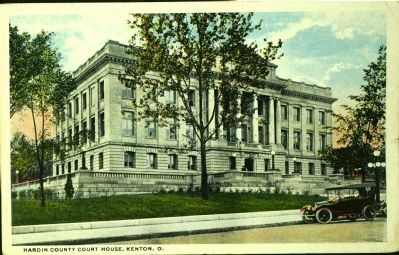 <i>Hardin County Court House, Kenton, O.</i> image. Click for full size.