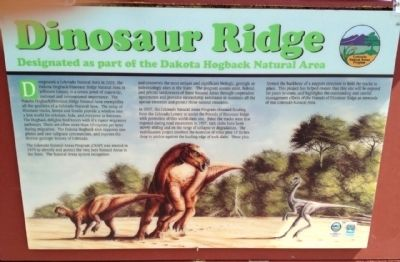 Dinosaur Ridge Marker image. Click for full size.
