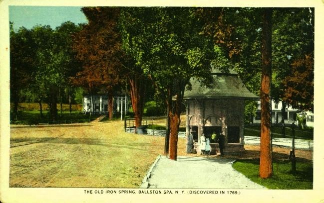 <i>The Old Iron Spring, Ballston Spa, N.Y. (Discovered in 1769.) image. Click for full size.