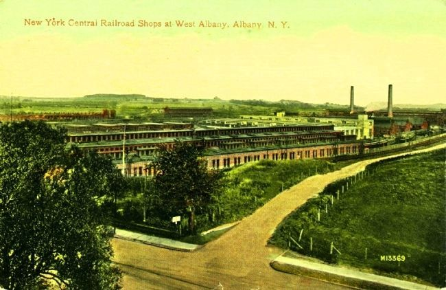 <i>New York Central Railroad Shops at West Albany, Albany, N.Y.</i> image. Click for full size.