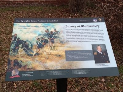Barney at Bladensburg Marker image. Click for full size.