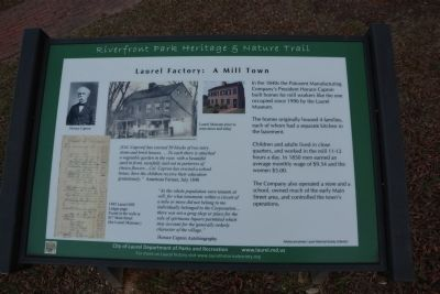 Laurel Factory: A Mill Town Marker image. Click for full size.
