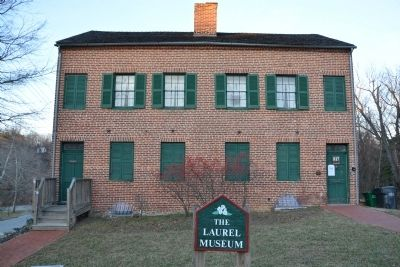 The Laurel Museum building, referenced in the marker text. image. Click for full size.