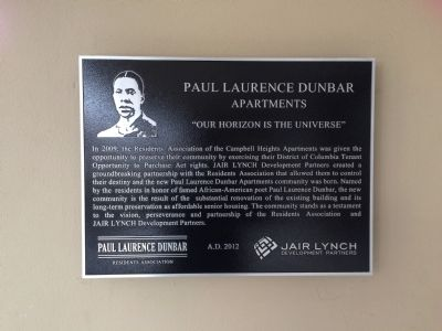 Paul Laurence Dunbar Apartments Marker image. Click for full size.