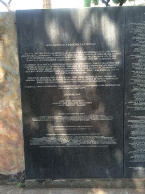Monument to Memory and Truth Marker (December 2003 marker) image. Click for full size.