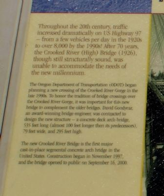 A Bridge for the New Millenium Marker image. Click for full size.