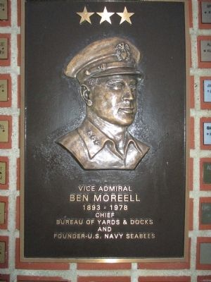 Vice Admiral Ben Moreel Plaque image. Click for full size.