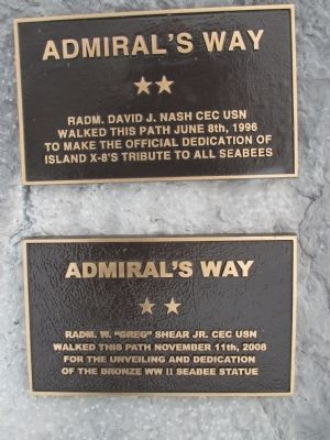 Admiral's Way Plaques image. Click for full size.