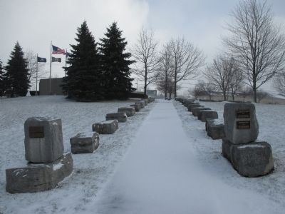 Walkway from Parking Area to Memorial image. Click for full size.