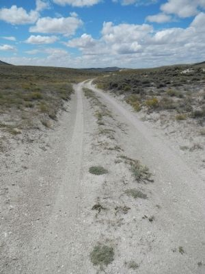 The Oregon-California Trail looking east from South Pass. image. Click for full size.
