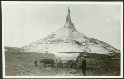 Erza Meeker at Chimney Rock image. Click for full size.