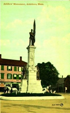 <i> Soldiers&#39; Monument, Attleboro, Mass.</i> image. Click for full size.
