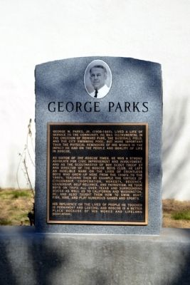 George Parks Marker image. Click for full size.