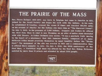The Prairie of the Mass Marker image. Click for full size.