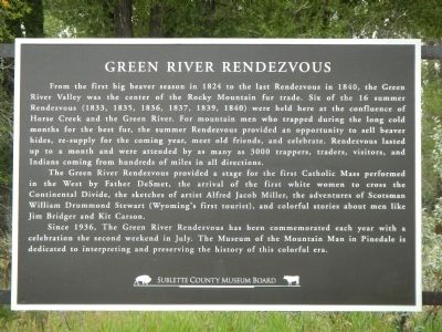 Green River Rendezvous Marker image. Click for full size.