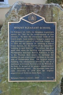 Mount Pleasant School Marker image. Click for full size.