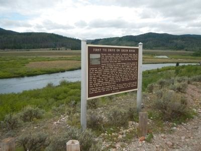 First Tie Drive on Green River Marker image. Click for full size.