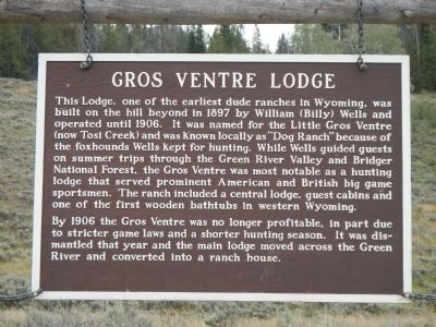 Gros Ventre Lodge Marker image. Click for full size.
