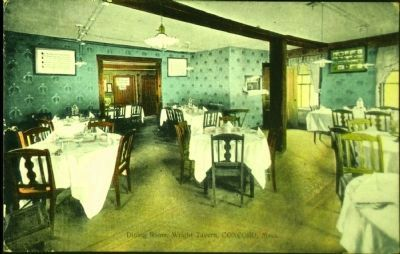 <i>Dining Room, Wright Tavern, Concord, Mass.</i> image. Click for full size.