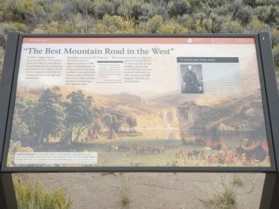 """The Best Mountain Road in the West"" Marker image. Click for full size."