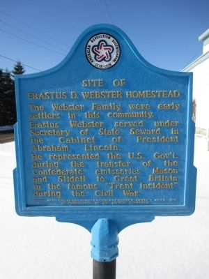 Site of Erastus D. Webster Homestead Marker image. Click for full size.