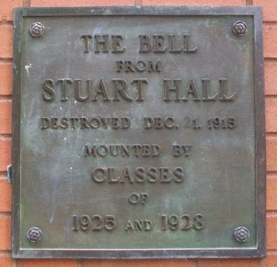 The Bell from Stuart Hall Marker image. Click for full size.