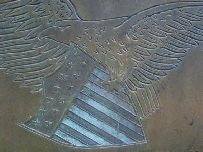 College of Emporia WWI Memorial Marker Eagle image. Click for full size.