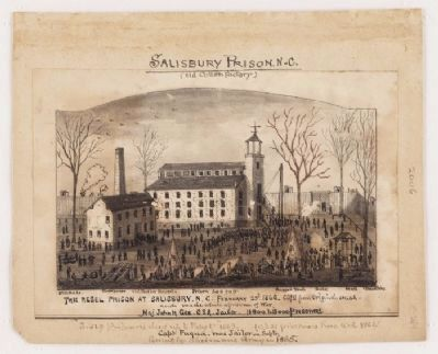 Drawing of the Salisbury Confederate Prison image. Click for full size.