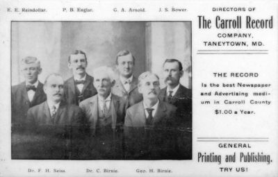 Directors of The Carroll Record image. Click for full size.