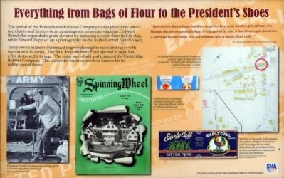 Everything from Bags of Flour to the President's Shoes Marker image. Click for full size.