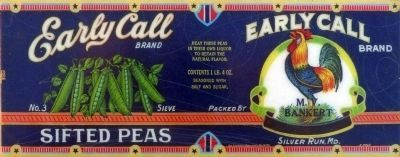 Early Call Sifted Peas image. Click for full size.