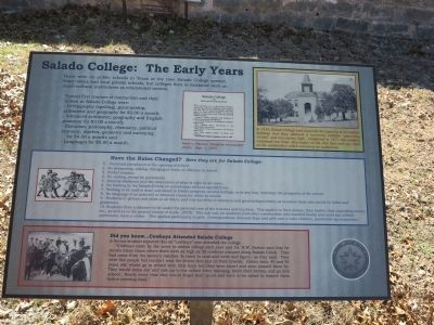 Salado College Park walking trail info signs image. Click for full size.