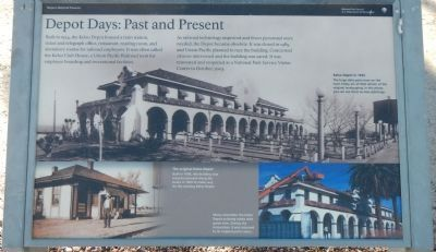 Depot Days: Past and Present panel image. Click for full size.