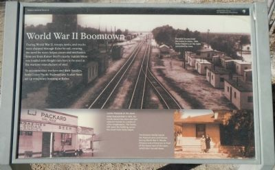 World War II Boomtown panel image. Click for full size.