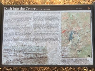 Dash into the Crater Marker image. Click for full size.