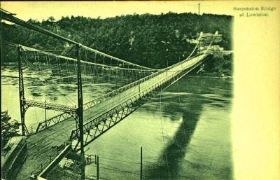 <i>Suspension Bridge at Lewiston.</i> image. Click for full size.