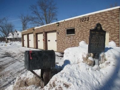 Old Fire Hall and Marker image. Click for full size.