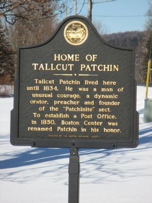 Home of Tallcut Patchin Marker image. Click for full size.