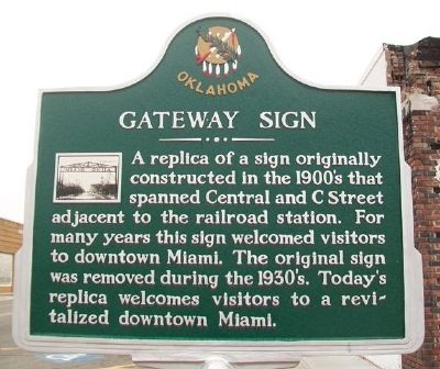 Gateway Sign Marker image. Click for full size.