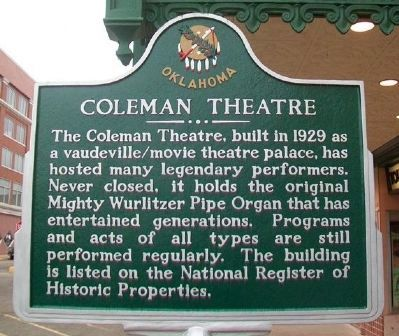 Coleman Theatre Marker image. Click for full size.