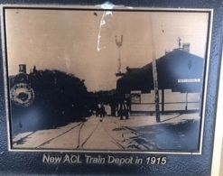 New ACL Train Depot in 1915 image. Click for full size.