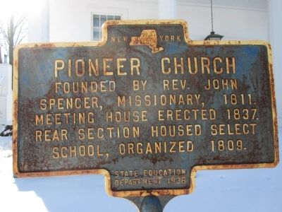 Pioneer Church Marker image. Click for full size.