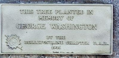 George Washington Memorial Tree Marker image. Click for full size.