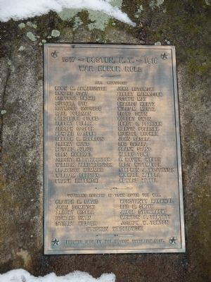 Boston, N.Y. War Honor Roll Memorial image. Click for full size.