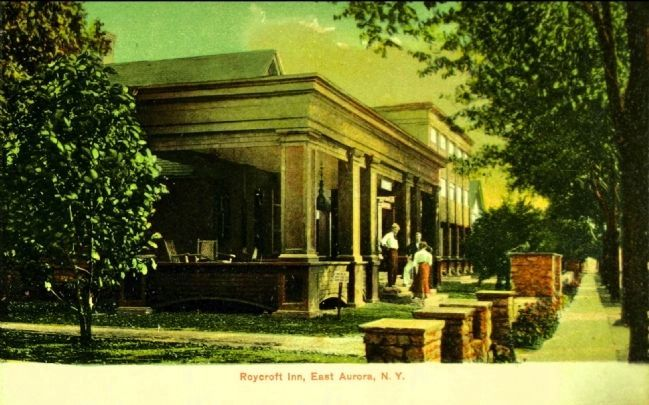 <i>Roycroft Inn, East Aurora, N.Y.</i> image. Click for full size.